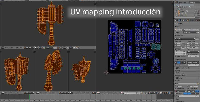 curso introduccion uv mapping con blender