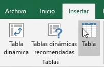 Convertir un listado en Tabla de datos