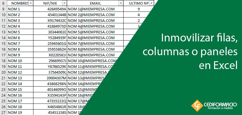 Imagen destacada entrada inmovilizar filas columnas o paneles en Excel
